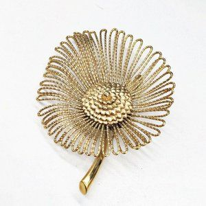 Vintage Designer Signed MONET Flower Pin Brooch